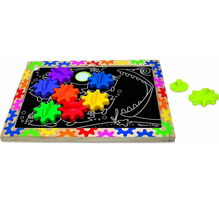 Melissa & Doug - Switch & Spin Magnetic Gear Board