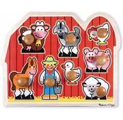 Melissa & Doug Melissa & Doug Houten boerderijpuzzel met grote knoppen