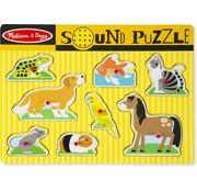 Melissa & Doug Melissa & Doug Houten Puzzel met Geluid - Huisdieren