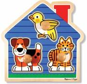 Melissa & Doug Melissa & Doug Houten dierenpuzzel met grote knoppen