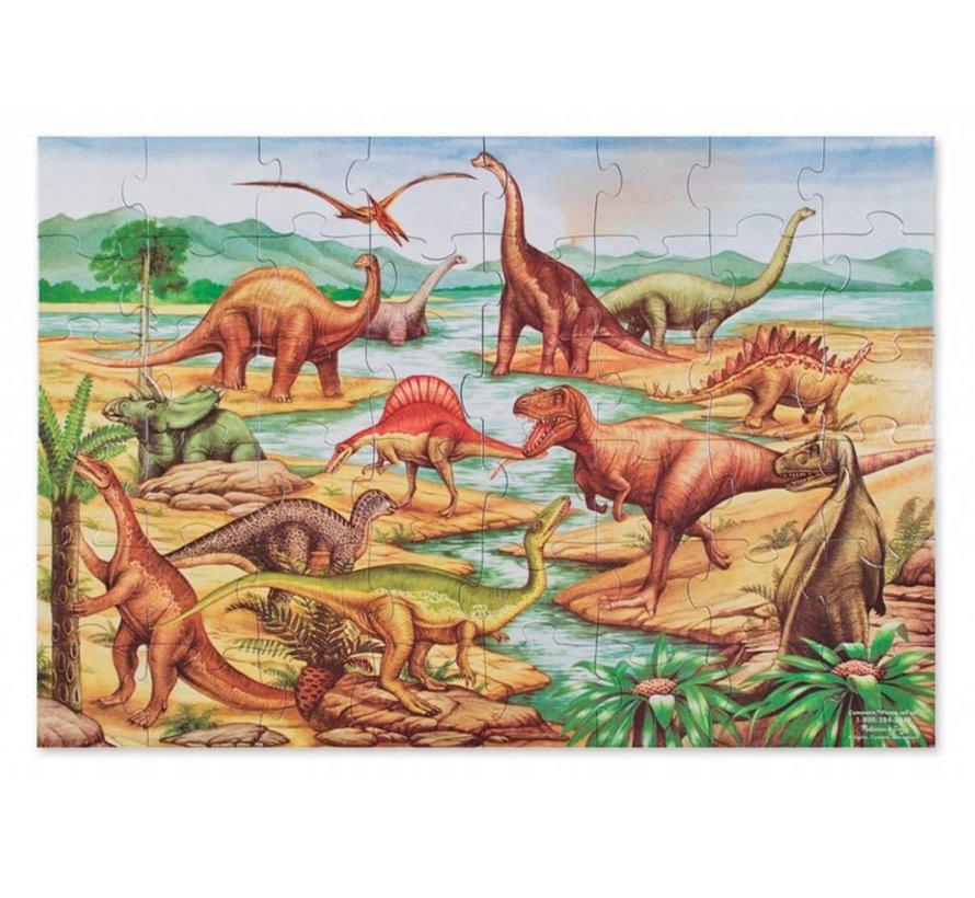 Melissa & Doug - Dinosaurus - Vloerpuzzel - 48 pcs