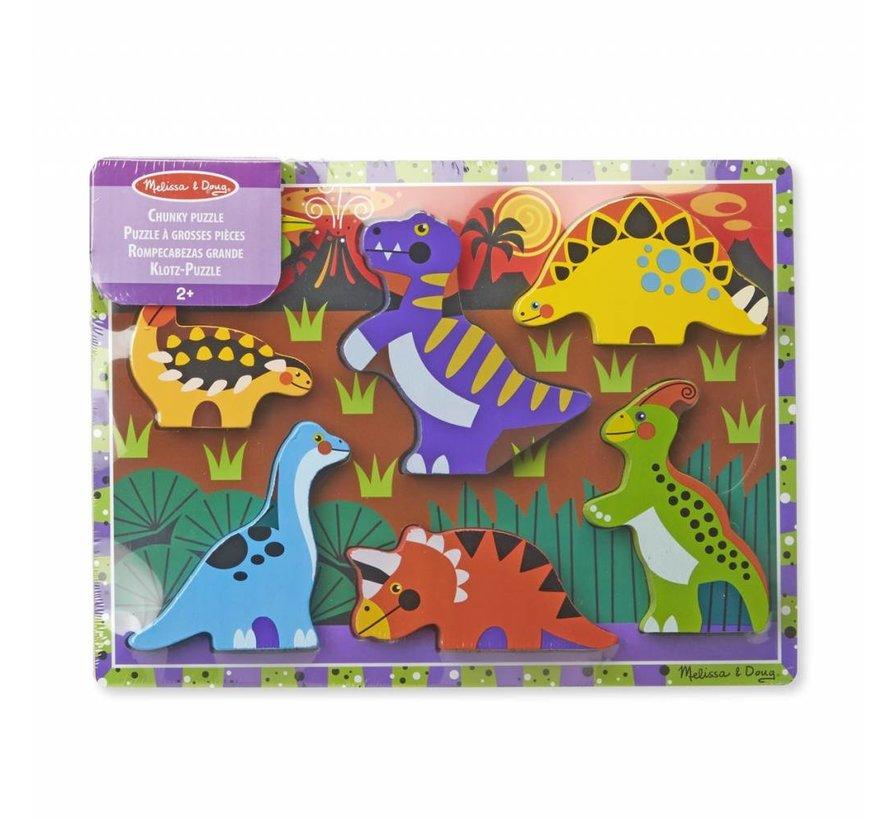 Melissa & Doug - Dinosaurus - Legpuzzel Extra Dik