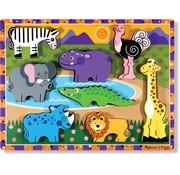 Melissa & Doug Melissa & Doug Houten safaripuzzel (8-delig)