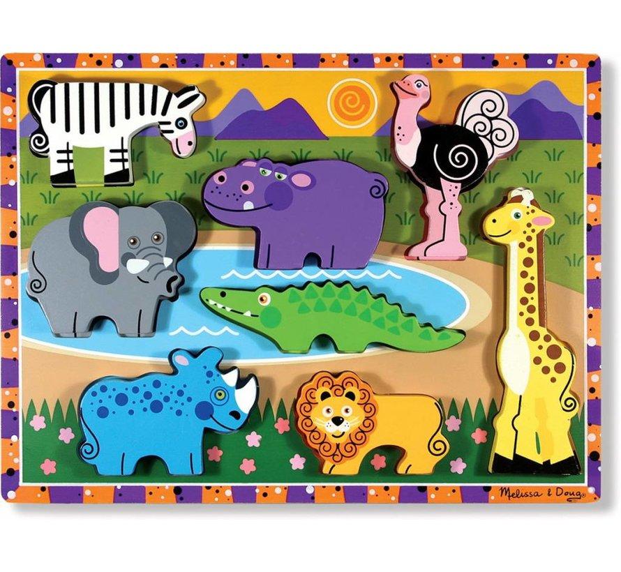 Melissa & Doug Houten safaripuzzel (8-delig)