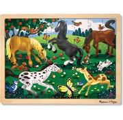 Melissa & Doug Melissa & Doug - Frolicking Horses - Legpuzzel - 48 PC