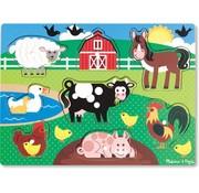 Melissa & Doug Melissa & Doug Houten knopjes puzzel boerderij (8-delig)