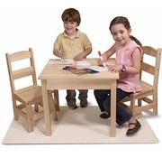 Melissa & Doug Melissa & Doug - Houten Kindertafel met twee Stoeltjes