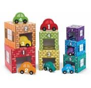 Melissa & Doug Melissa & Doug Houten Garage om te leren tellen en verzamelen - met 7 houten auto's