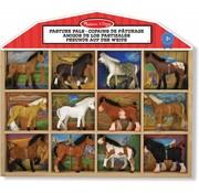 Melissa & Doug Melissa & Doug Pasture Pals - 12 paarden in houten stalachtige kist