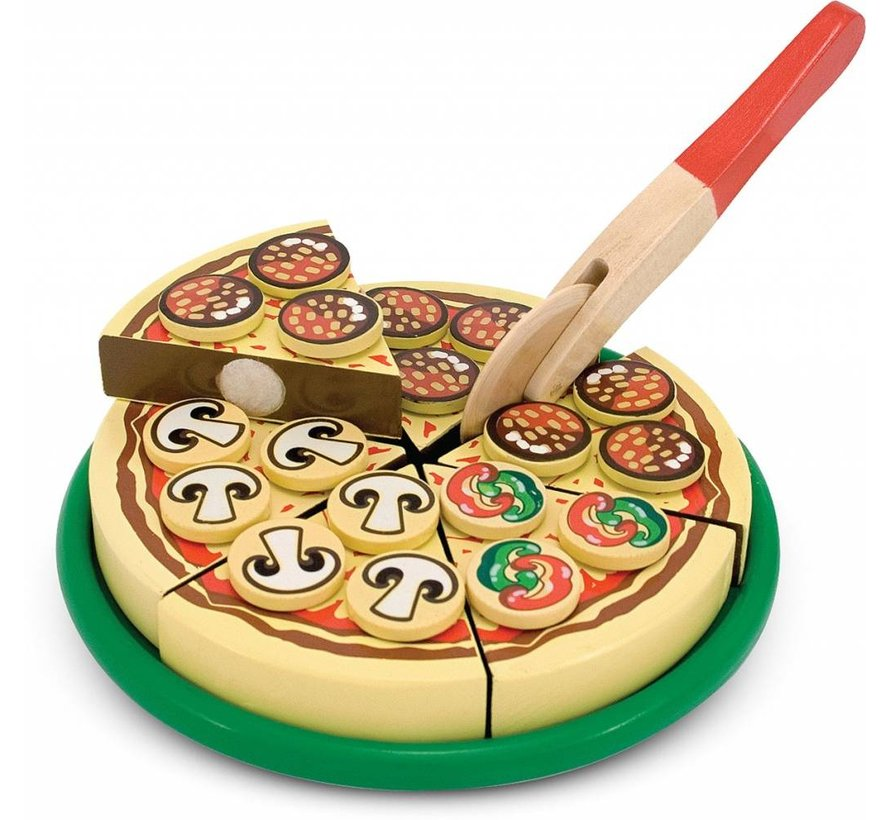 Melissa & Doug Houten Voedsel Pizza