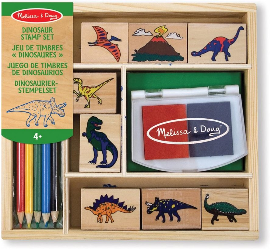 Melissa & Doug Houten stempelset - Dinosaurus