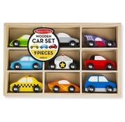 Melissa & Doug Melissa & Doug Houten Autoset - 9 auto's