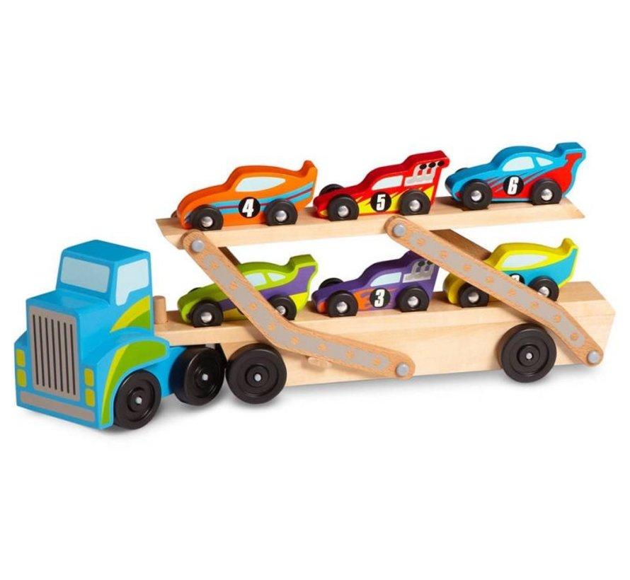 Melissa & Doug - Mega Race-Car Carrier