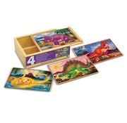 Melissa & Doug Melissa & Doug - Dinosaurs - Puzzles in a Box