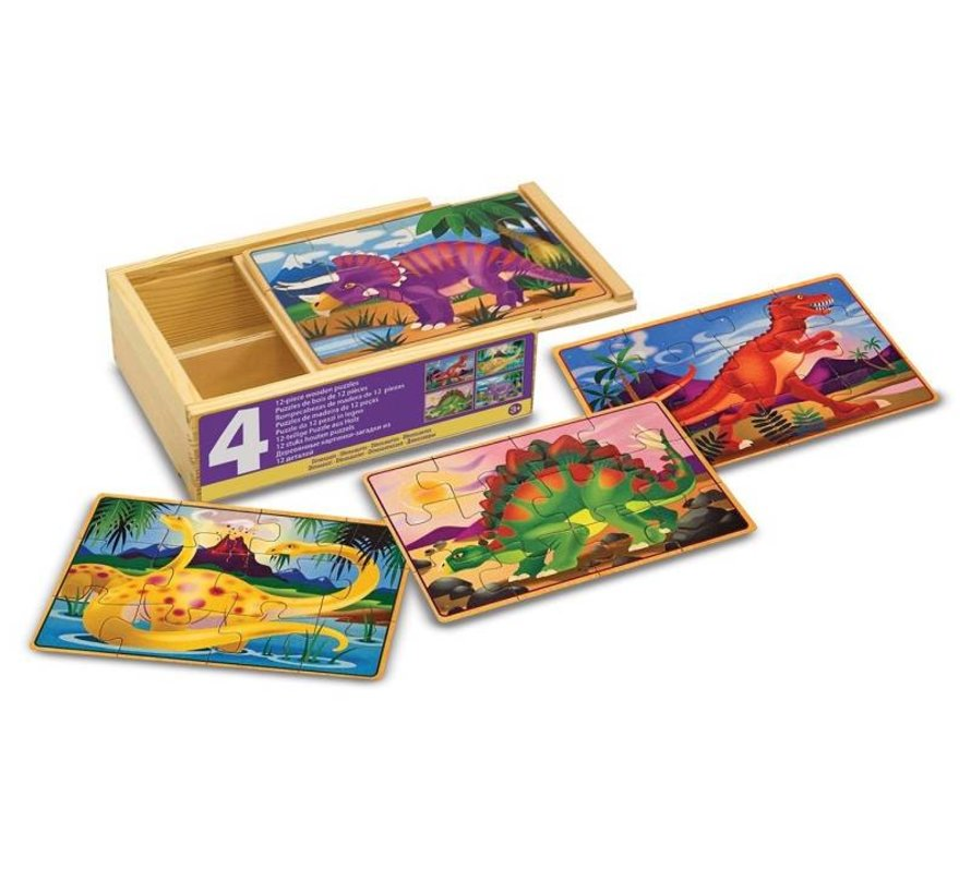 Melissa & Doug - Dinosaurs - Puzzles in a Box