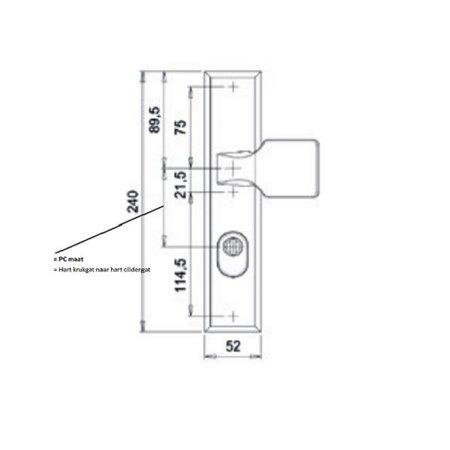 Buva Buva kerntrekbeslag 3400KT greep-kruk F1 PC72