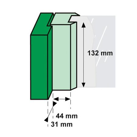 AXA Axa raamboompje 3308 met kierstand en drukknop