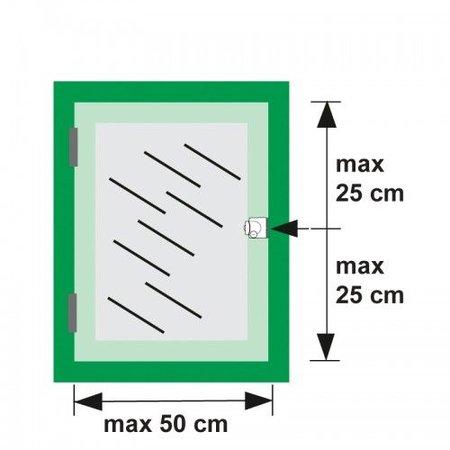 AXA Axa oplegslot 3012 inbouwsluitkom zilver 3012-20-90/G SKG*