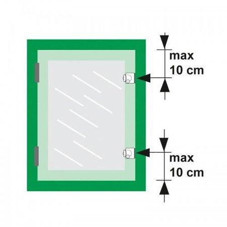AXA Axa oplegslot 3012 inbouwsluitkom wit 3012-20-98/G SKG*