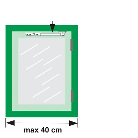 AXA Axa telescopische raamuitzetter binnendraaiend grijs 20 cm