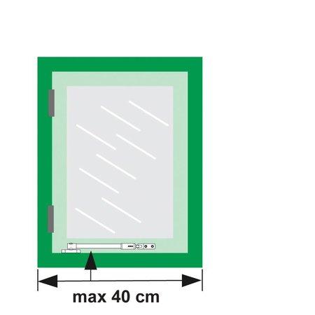 AXA Axa telescopische raamuitzetter binnendraaiend grijs 35 cm