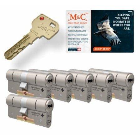 M&C M&C Condor cilinder met kerntrekbeveiliging (6x) - SKG***