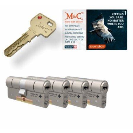 M&C M&C Condor cilinder met kerntrekbeveiliging (4x) - SKG***