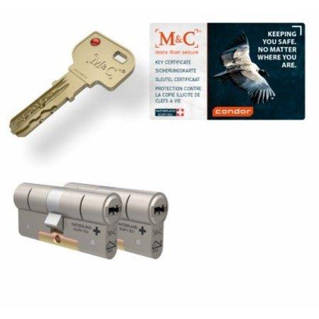 M&C M&C Condor cilinder met kerntrekbeveiliging (2x) - SKG***