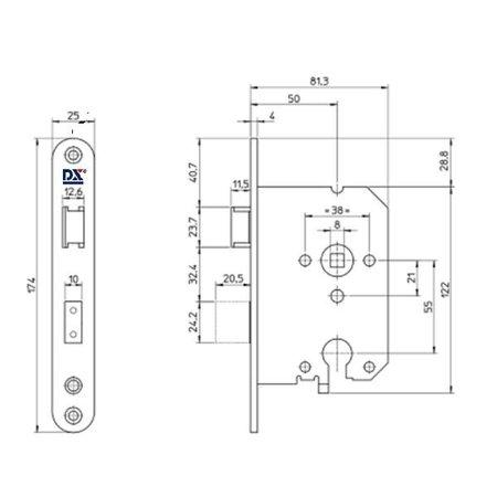 Dulimex Dulimex veiligheidsinsteekslot SKG** met ronde voorplaat RVS