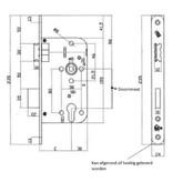 Toplock Toplock insteekslot PC72 SKG** Doorn 55mm - rechthoekig