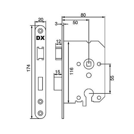 Dulimex Dulimex insteekslot cilinder RVS