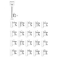 Nemef sleutel klavier 1266 serie diverse nummers