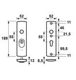 AXA Axa 6675 kerntrekbeslag kortschild kruk-kruk F1 SKG*** PC72