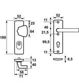AXA Axa 6675 kerntrekbeslag kortschild  S-knop F1 SKG*** PC72