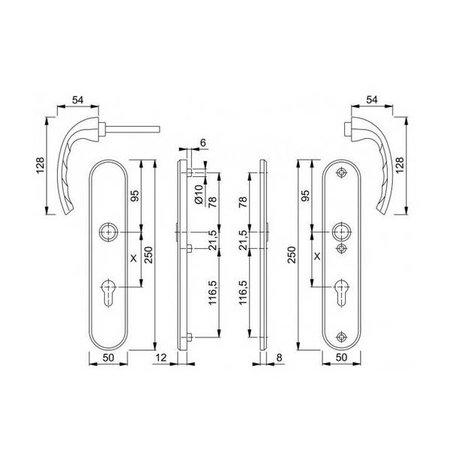 Hoppe Hoppe veiligheidsbeslag tokyo kruk-kruk F1 ovaal PC55