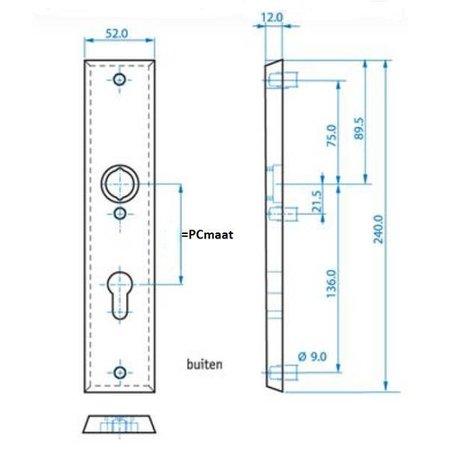 Buva Buva veiligheidsbeslag 3400 greep-kruk F1 PC55