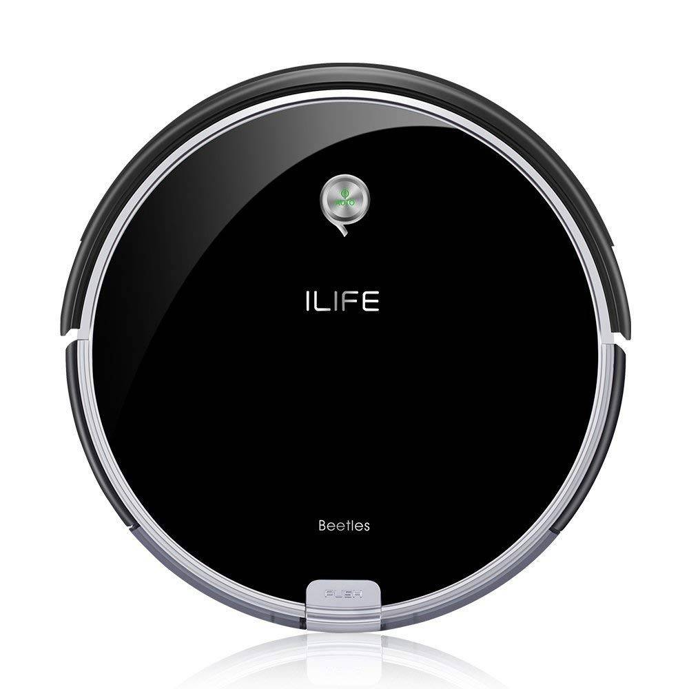 ILIFE A6 Robotic Vacuum Cleaner, Slim Design for Hard Floor and Thin Carpets, Self-Charging Vacuum Cleaning Robot