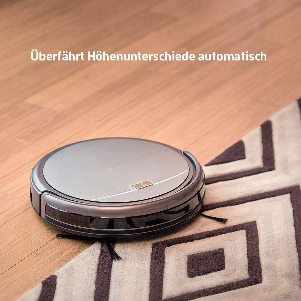 ILIFE A4s Robot Vacuum Cleaner with Powerful Suction and Remote Control, Super Quiet Design for Thin Carpet