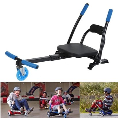 Hoverkart Kit kart Blue for Gyropod Hoverboard self scale auto Suitable-6.5/10 inch electric scooter