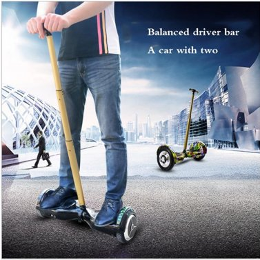 """Two Wheel Auto 6.5 """"/ 10"""" Hoverboard Electric Handrails Hand Lever Black"""