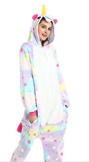 Kenmont Kids Adult Unisex Animal Costume Cosplay Unicorn Jumpsuit Pajamas Night Clothes Fancy Dress Party