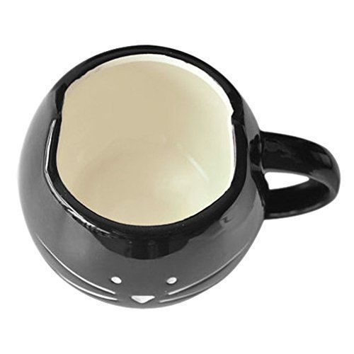 Rainbow Fox Coffee Cup - Cat, Ceramic, Black