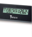 New ! Detecto 6-in-1 Wide Body Glass LCD Digital Body Fat Bathroom Scale