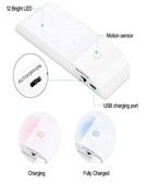 Motion Sensor Light USB Rechargeable Battery 3 Modes Night Light 12 LED Closet Cabinet Light with Motion Activated Auto On/Off 3pcs