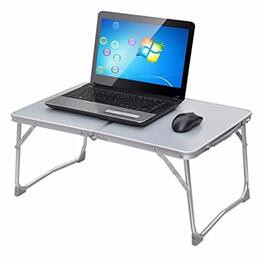 SUPERJARE Tinxs Portable Foldable Desk Table Stand Bed Tray For PC Laptop Notebook (Gray)