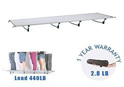 DESERT WALKER Camping cots, Outdoor Bed Ultra Lightweight Bed Portable cot Free Storage Bag Included,
