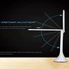LESHP Lampe de Table LED Flexible Haute Puissance Portative Lampe de Bureau 3 Mode de Luminosité Régleable Haute Efficacité Lumineuse Contrôle Tactile Bras Extensible 180 Degré Meilleur Soins des Yeux (Blanc 1)
