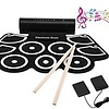 Leshp - Electronic drum kit with percussion pad, portable roller drum, perfect for beginners and children