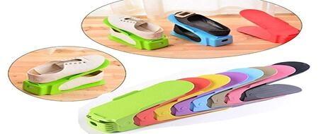 Home Double Shoe Slots Organizer - Space Saver Rack Holder Set of 12(2sets)
