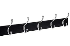 AmazonBasics-Wall Mounted Coat Rack, Black